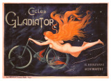 Reklame for Gladiator-cykler, på fransk Giclée-tryk