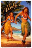 Aloha Láminas por Kerne Erickson