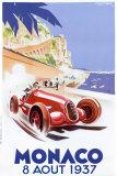 Geo Ham - Velká cena Monaka – Monaco Grand Prix, 1937 (reklamní plakát ve francouzštině) Umění