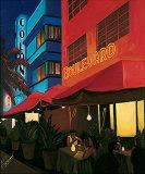 Boulevard Cafe Art by Kenny Beberman