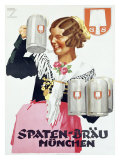 Spaten Brau Giclee Print by Ludwig Hohlwein