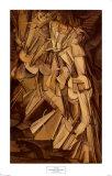 Desnudo descendiendo por unas escaleras, número 2, 1912 Arte por Marcel Duchamp