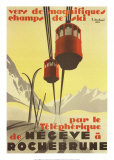 Megeve Posters by Pierre Michaud