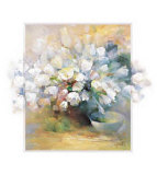 Sparkling White Tulips I Posters by Willem Haenraets