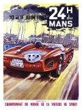 24 Hour du le Mans Ferrari GP Giclée-tryk