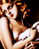 Femme &#224; colombe Affiches par Tamara de Lempicka