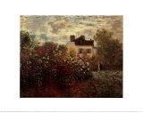 Artist's Garden in Argenteuil Plakater af Claude Monet