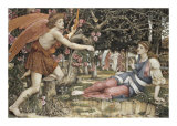 Love and the Maiden Art by John Roddam Spencer Stanhope