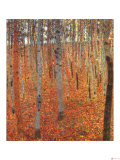 Beach Forest Reproduction procédé giclée par Gustav Klimt