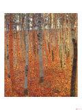 Gustav Klimt - Plážový les Digitálně vytištěná reprodukce