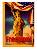 Statue Liberty Freedom Giclee Print