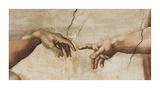Aatamin luominen (The Creation of Adam), noin 1510 (yksityiskohta) Posters tekijänä Michelangelo Buonarroti,