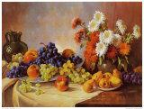 Naturaleza muerta: fruta Pósters por E. Kruger