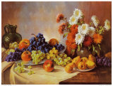 Still Life with Fruit Posters by E. Kruger