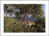 Landschaft bei Bordighera Poster von Claude Monet