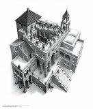 Ascendant et descendant Art par M. C. Escher
