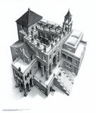 Treppauf und Treppab Poster von M. C. Escher