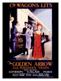Wagons Lits, The Golden Arrow Giclee Print by W.S. Bylityplis