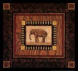 Elephant/Elefanten Poster von Pamela Gladding