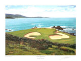 Pebble Beach, 7th Hole Print by Graeme Baxter