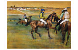 Race Horses Giclee Print by Edgar Degas