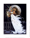 Moonlight Floral Serenade Prints by Sandra Wakeen
