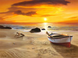 Spiaggia al Tramonto Prints by Adriano Galasso
