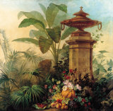 Flowers and Tropical Plants Poster von Jean Capeinick