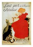 Pasteurisierte Milch Poster von Théophile Alexandre Steinlen