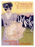 E&A Mele, Ombrellini Giclee Print by Leopoldo Metlicovitz