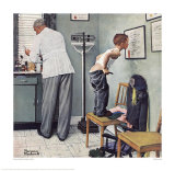 Before the Shot Giclee Print by Norman Rockwell