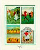 Golf Print by  Santa