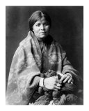 Girl in Blanket Giclee Print by Edward S. Curtis