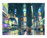 Times Square at Night Photographic Print by Kathryn M. Smith