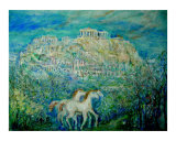 Greek Parthenon Giclee Print by Chieko Toyoda