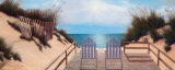 Blue Skies Panel Art by Diane Romanello