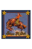 Cowgirl Star Rider Giclee Print