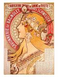 Savonnerie de Bagnolet Giclee Print by Alphonse Mucha