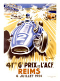 41st Grand Prix of the Automobile Club de France, Reims Giclée-Druck von Geo Ham