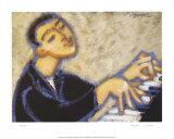 Piano Poster by Marsha Hammel