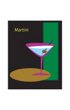 Martini in Black Giclee Print by  ATOM