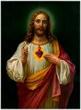 Sacred Heart of Jesus Reprodukcje autor Zabateri