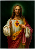 Sacred Heart of Jesus Print by Zabateri