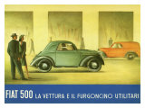 Fiat 500 Topolino Giclee Print