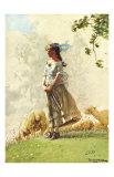 Fresh Air with Sheep Reproduction procédé giclée par Winslow Homer