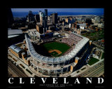 Cleveland - First Indians Game at Jacobs Field Posters av Mike Smith