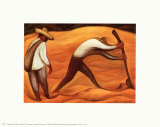 Peasants Posters by Diego Rivera
