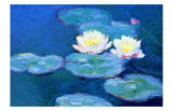 Waterlilies, Evening Impressão giclée por Claude Monet