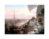 Dinner on the Terrace Poster by Christa Kieffer