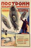 Lennin Dirigible Airship Poster Lámina giclée
